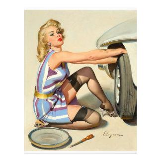 Nuevo chica del Pin-para arriba del neumático Flyer Personalizado