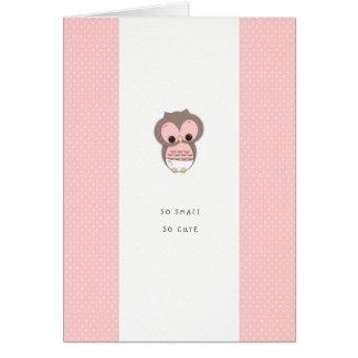 Nuevo chica rosado tan pequeño, tan lindo de Congr Tarjeton