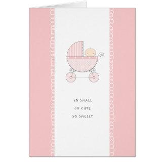 Nuevo chica rosado tan pequeño, tan lindo de Congr Tarjeta De Felicitación