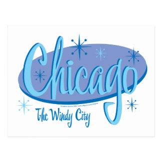 Nuevo-Chicago-Retro Tarjetas Postales