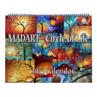 NUEVO círculo colorido de MADART 2015 del Calendario