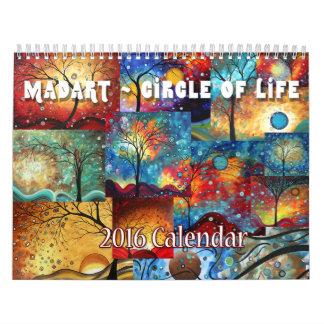 NUEVO círculo colorido de MADART 2016 del Calendarios De Pared