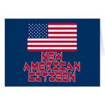 Nuevo ciudadano americano con la bandera americana felicitación