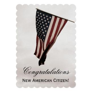 """Nuevo ciudadano americano+Los E.E.U.U. fiesta de Invitación 5"""" X 7"""""""