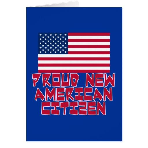 Nuevo ciudadano americano orgulloso felicitacion