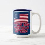 Nuevo ciudadano americano orgulloso tazas