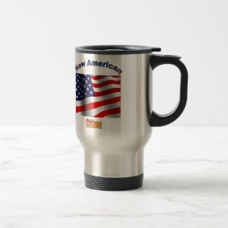 Nuevo ciudadano americano taza de viaje