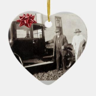 ¡Nuevo coche para el navidad! Los últimos años 20 Adorno Navideño De Cerámica En Forma De Corazón