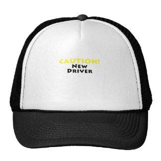 Nuevo conductor de la precaución gorro de camionero