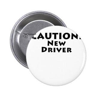 Nuevo conductor de la precaución chapa redonda 5 cm