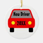 Nuevo conductor ornamentos de navidad