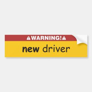 nuevo conductor pegatina para auto