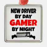 Nuevo conductor por videojugador del día por noche ornaments para arbol de navidad
