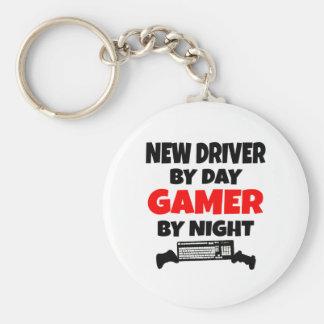 Nuevo conductor por videojugador del día por noche llavero