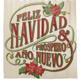 Nuevo del ano del Prospero de Feliz Navidad y Cortina De Baño