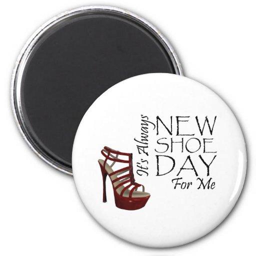 Nuevo día del zapato de la CAMISETA Imán Para Frigorífico