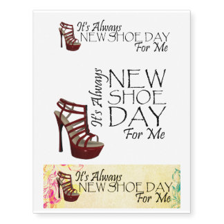 Nuevo día del zapato de la CAMISETA para mí Tatuajes Temporales