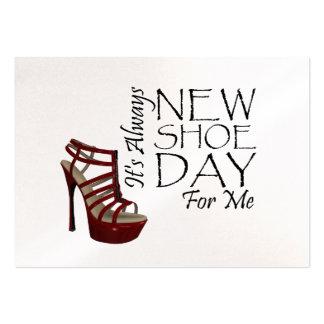 Nuevo día del zapato de la CAMISETA Tarjetas De Visita Grandes