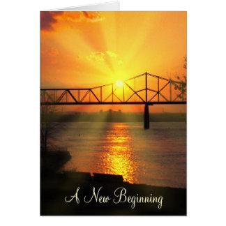 Nuevo día hermoso tarjeta de felicitación