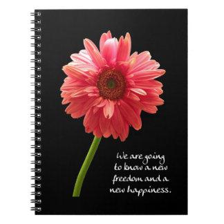 Nuevo diario del Gerbera del rosa de la felicidad