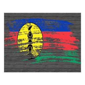 Nuevo diseño caledonio fresco de la bandera tarjetas informativas