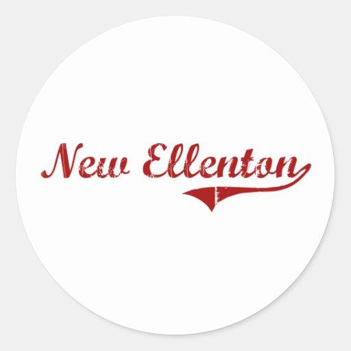 Nuevo diseño clásico de Ellenton Carolina del Sur Pegatinas Redondas