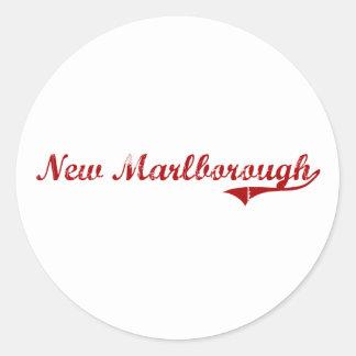 Nuevo diseño clásico de Marlborough Massachusetts Etiqueta Redonda