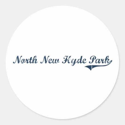 Nuevo diseño clásico del norte de Hyde Park Nueva Etiquetas Redondas