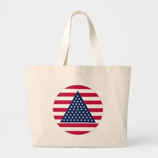 Nuevo diseño de la bandera americana bolsa de mano