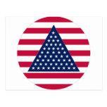 Nuevo diseño de la bandera americana tarjeta postal