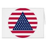 Nuevo diseño de la bandera americana tarjetas