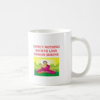 nuevo diseño de la edad de la meditación budista taza
