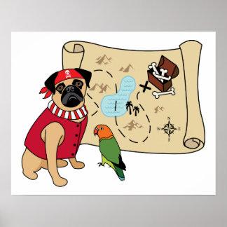 ¡NUEVO!  Diseño del barro amasado del pirata - aña Póster