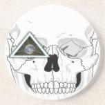 Nuevo diseño del cráneo del orden mundial posavasos manualidades
