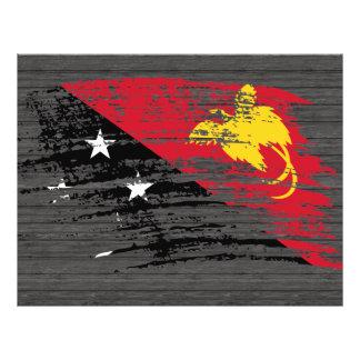 Nuevo diseño guineano fresco de la bandera de Papu Tarjeton