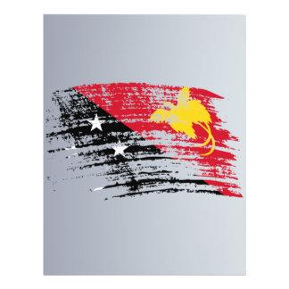 Nuevo diseño guineano fresco de la bandera de Papu Tarjetones