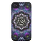 Nuevo-Edad de plata de los fractales de la fantasí Case-Mate iPhone 4 Cárcasa