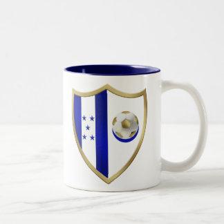 Nuevo emblema del club de los fanáticos del fútbol taza