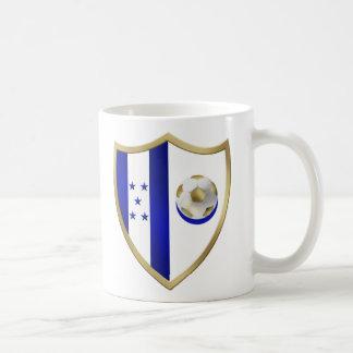 Nuevo emblema del club de los fanáticos del fútbol taza de café