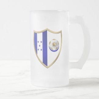 Nuevo emblema del club de los fanáticos del fútbol taza de cristal