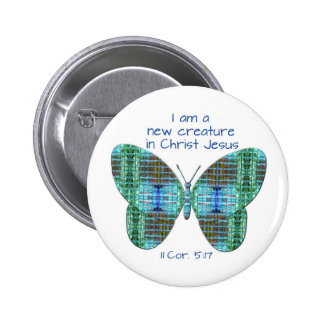 Nuevo en mariposa del 5:17 de los Corinthians de C Pin Redondo 5 Cm