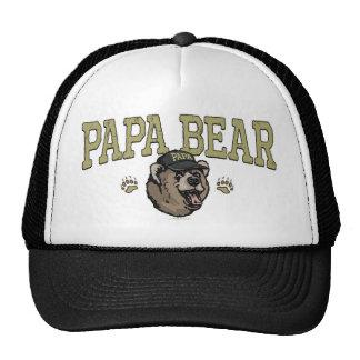 Nuevo engranaje del día de padre del oso de la pap gorros