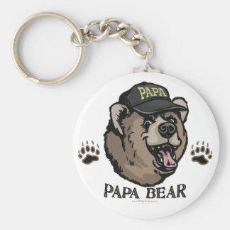 Nuevo engranaje del día de padre del oso de la pap llavero personalizado