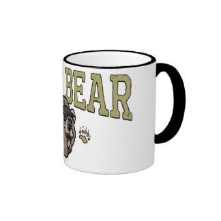 Nuevo engranaje del día de padre del oso de la pap tazas de café