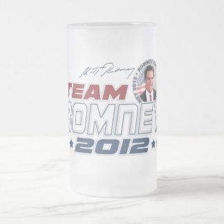 Nuevo equipo Romney 2012 Jarra De Cerveza Esmerilada