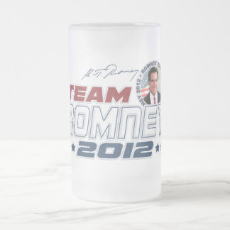 Nuevo equipo Romney 2012 Taza Cristal Mate