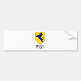 nuevo escudo de armas del escudo de la familia del pegatina para auto