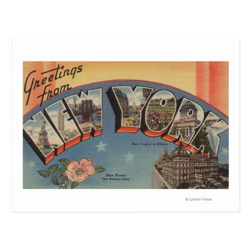 Nuevo estado de ScenesNew York de la letra de Postal