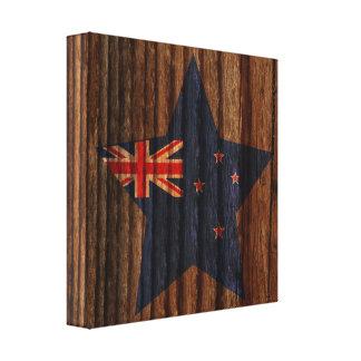 Nuevo+Estrella de la bandera de Selandia en el Impresiones En Lona