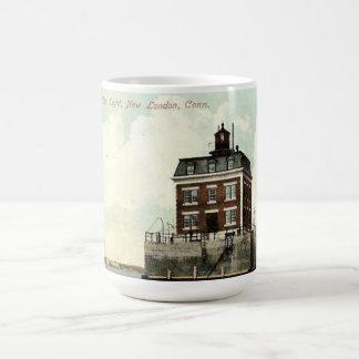 Nuevo faro de la repisa de Londres Taza De Café